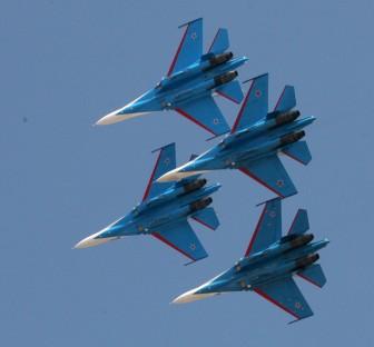 Rusian team performing at Aero India 2013