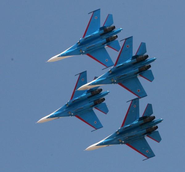 rusian plane in bangalore air show