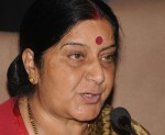 Senior BJP leader and Leader of Opposition in Lok Sabha Sushma Swaraj during a press conference in New Delhi on Nov.28, 2013. (Photo: IANS)