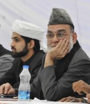 New Delhi:  The Shahi Imam of Jama Masjid, Syed Ahmed Bukhari with his 19 year-old son Shaban Bukhari, who has been chosen to succeed his father as the 14th Shahi Imam of Jama Masjid, the largest mosque in the country. The annointment of Shaban, will take place Nov 22. (File Photo: IANS)