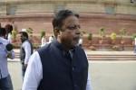New Delhi: Trinamool Congress MP Mukul Roy at the Parliament in New Delhi, on Feb 28, 2015. (Photo: IANS)