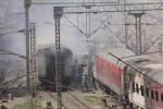 Two Rajdhani trains catch fire in New Delhi yard