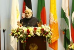 (141126) -- KATHMANDU, Nov. 26, 2014 (Xinhua) -- Indian Prime Minister Narendra Modi adresses his opening speech during the opening session of the 18th South Asian Association for Regional Cooperation (SAARC) Summit at City Hall in Kathmandu, Nepal, Nov. 26, 2014. (Xinhua/Pool/Narendra Shrestha) ****Authorized by ytfs****