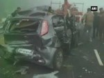 25 cars crashed due to dense fog in Haryana's Karnal district, 4 of the family dead